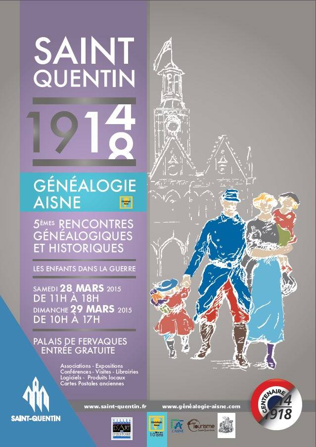 Affiche 5ème salon généalogie Saint-Quentin