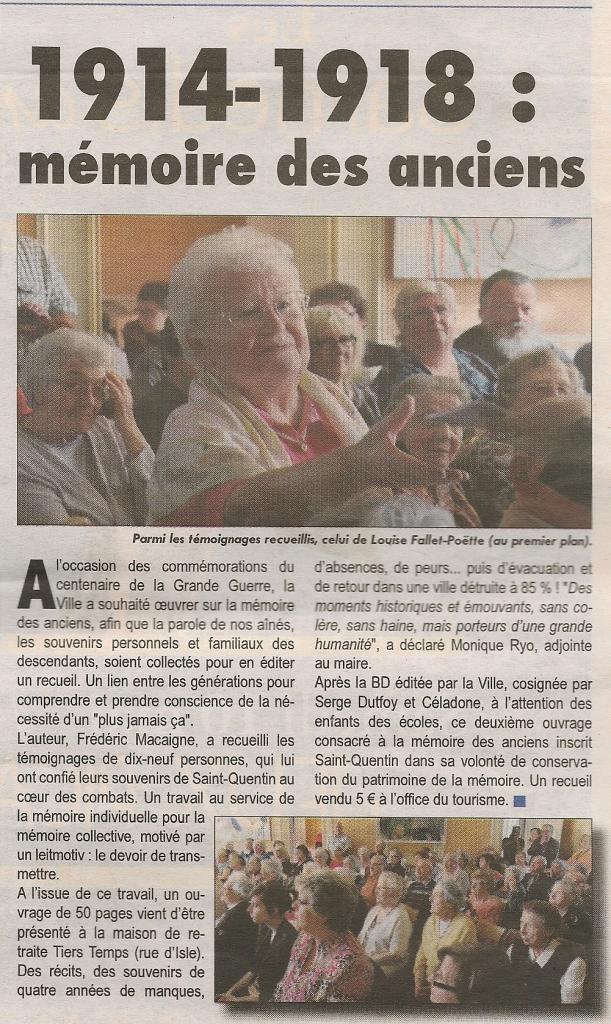 Article ST QUENTIN MAG n° 6 9 mai0001