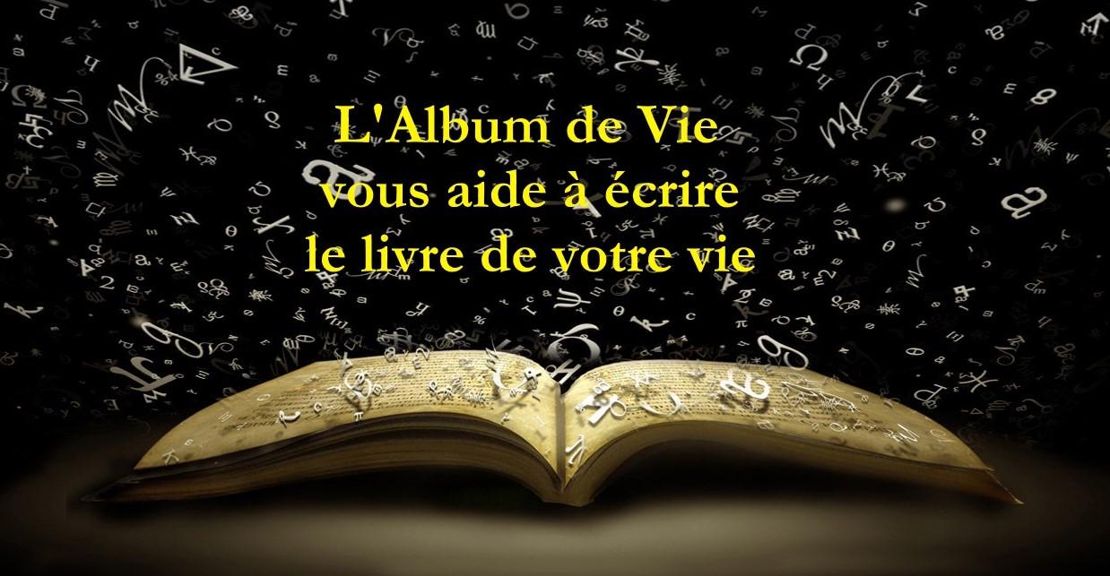 ALBUM DE VIE à livre ouvert