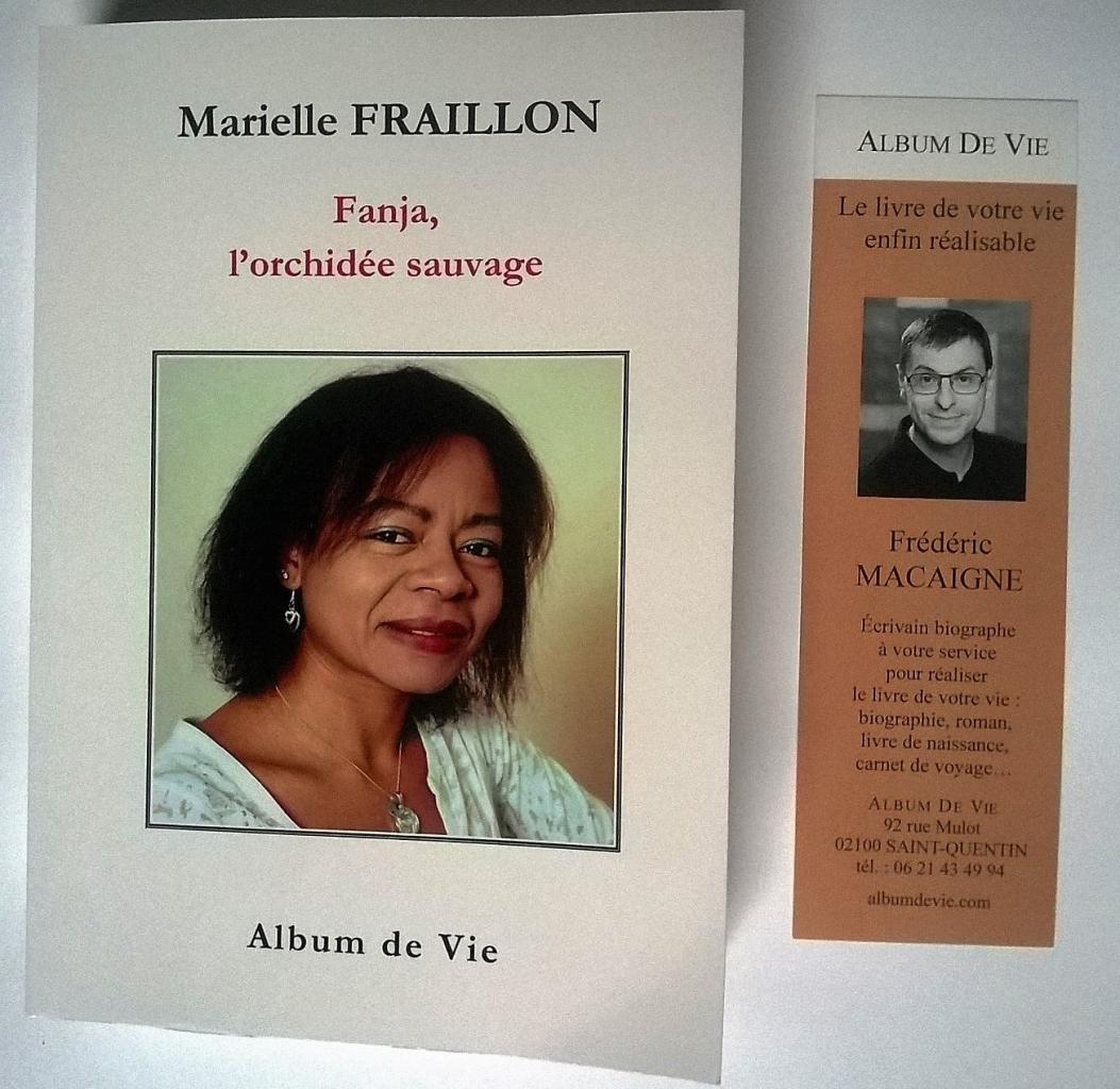 Album de Vie FANJA ORCHIDEE SAUVAGE