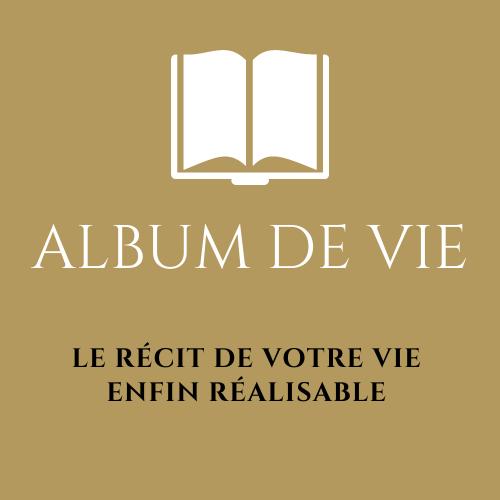 Logo album de vie dore